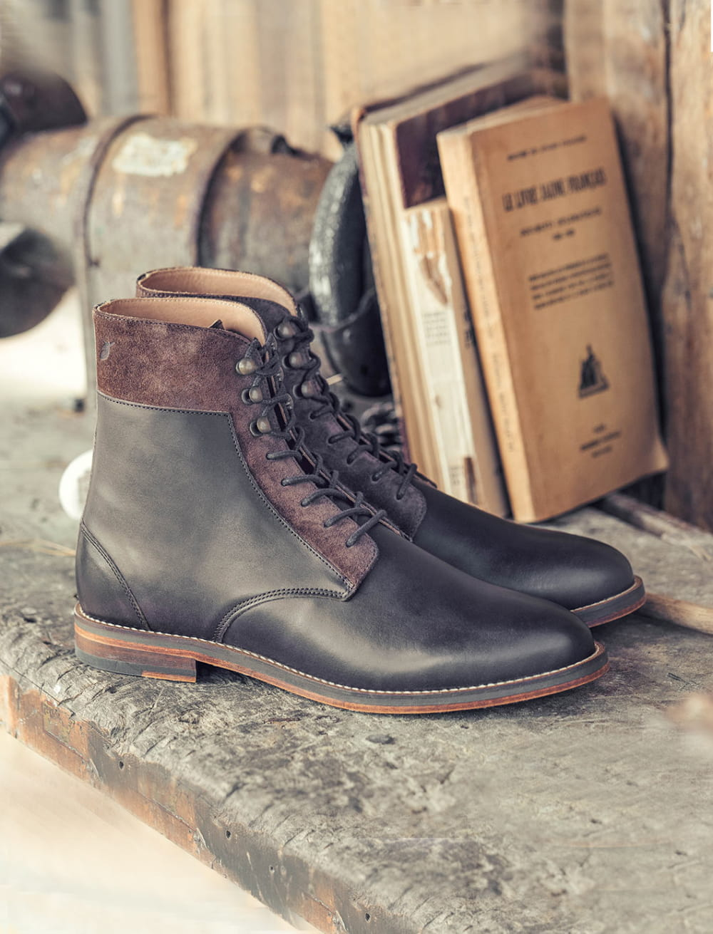 à boots Combat Combat à Chocolat Chocolat crochets boots crochets 8NPyvn0wOm
