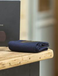 Coffret - Ceinture brute marron et chaussette bleues