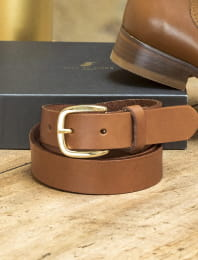 Christmas gift box - Cognac belt and socket
