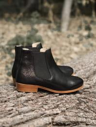 Chelsea boots - Black glitter