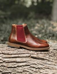 Chelsea boots - Bourgogne et Grenat