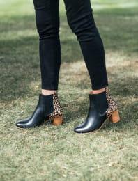Chelsea boots à talon - Biche noire