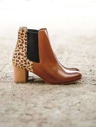 Chelsea boots à talon - Léopard