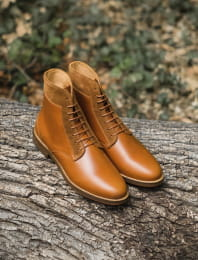 Combat boots - Cognac