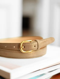 Classic belt woman - Sparkling taupe