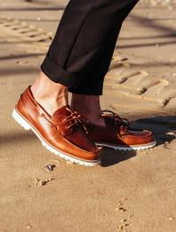 Mahogany Bateau Shoes