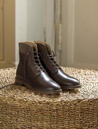 Combat boots - Chocolat