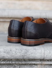 Derbies brogue - Chocolat