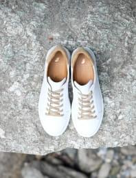 Sneakers - Blanc et Doré