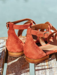 Maradji sandals - Brick and gold