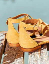 Maradji sandals - Mustard and gold