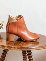 Triangle heel - Cognac