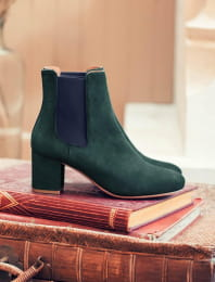 Chelsea heel - Green and night blue