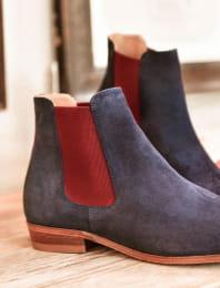 Chelsea boots - Bleu et aubergine
