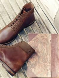 Combat boots - Burgundy
