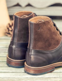 Combat boots derby - Chocolate
