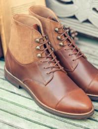 Combat boots derby - Havana
