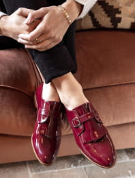 Buckle Derbies - Burgundy