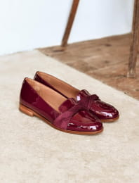 Band Moccasins - Burgundy