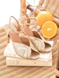 Sandales à talons Claudia - Doré