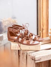 Salia sandals - Cognac