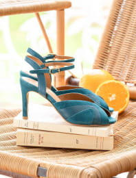 Claudia heeled sandals - Duck color