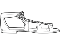 Falt sandals