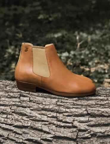 Chelsea boots - Cognac et Doré