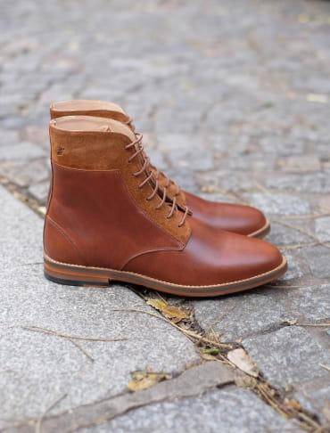 Combat boots - Havane