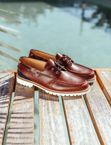Burgundy Bateau Shoe