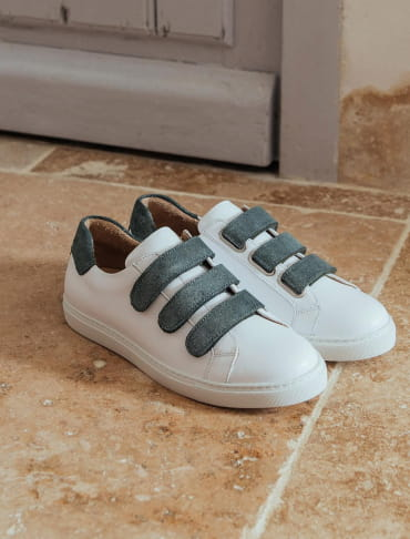 Sneakers - White and Green