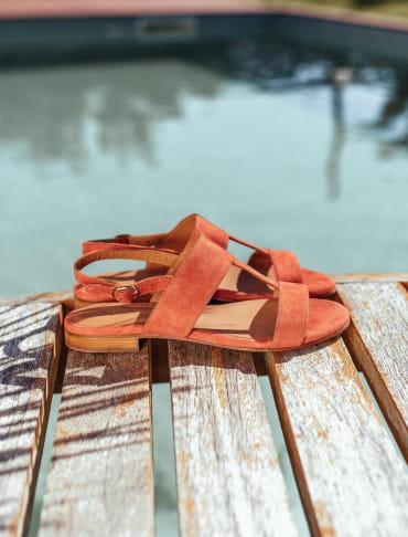 Eglea Sandals - Brick