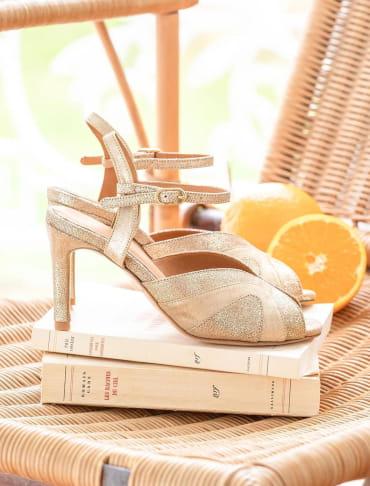 Claudia heeled sandals - Gold