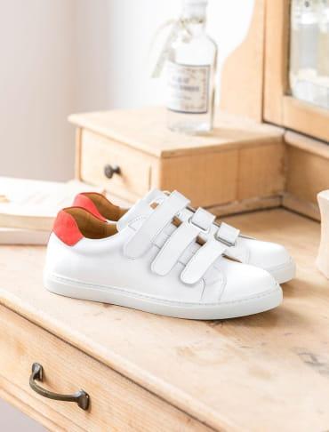 Sneakers - Blanc et vermeil