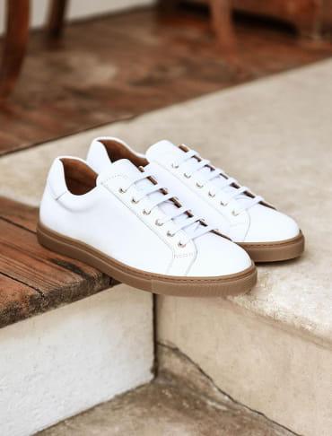 Sneakers - Blanc et miel