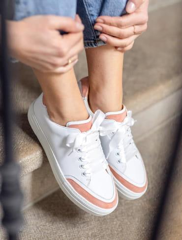 Platform Sneakers - Peach