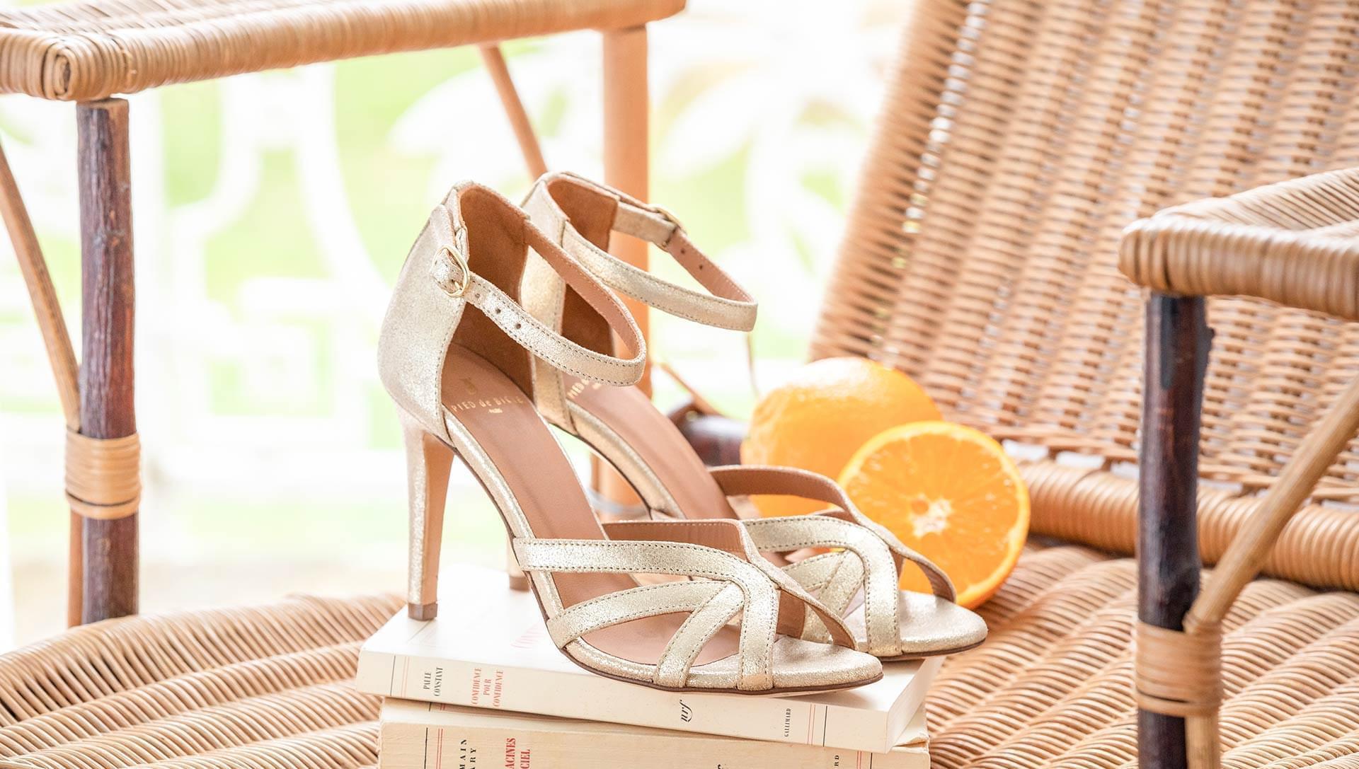 Hortense heeled sandals - Gold