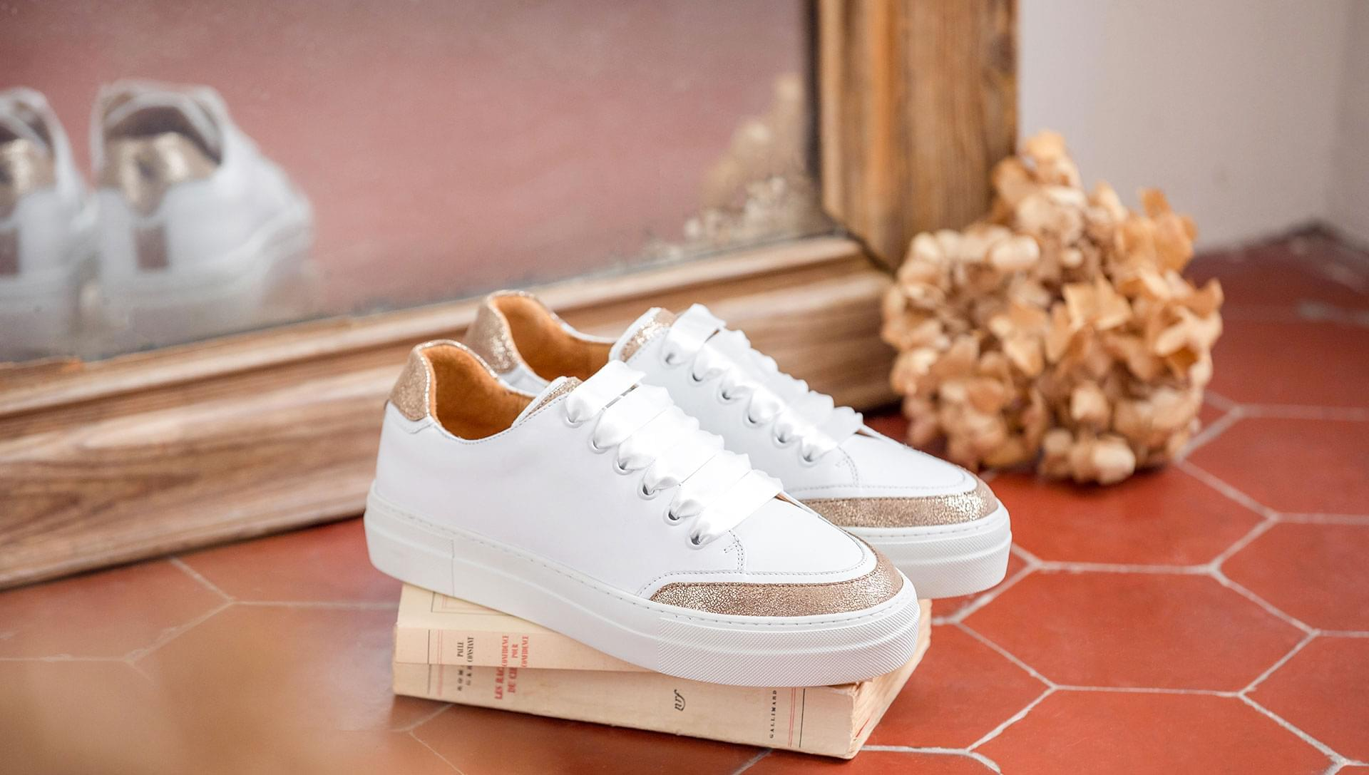 Platform Sneakers - Gold