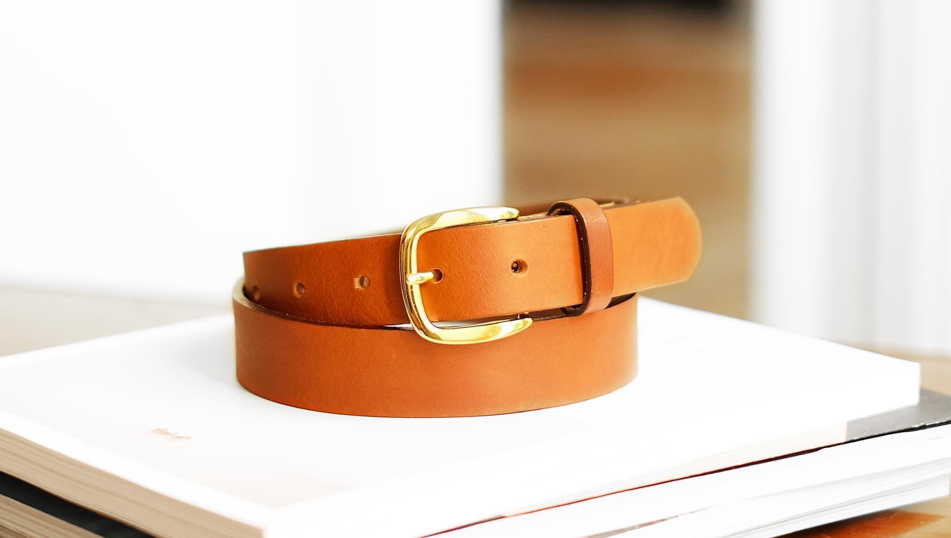 Raw belt woman - Cognac