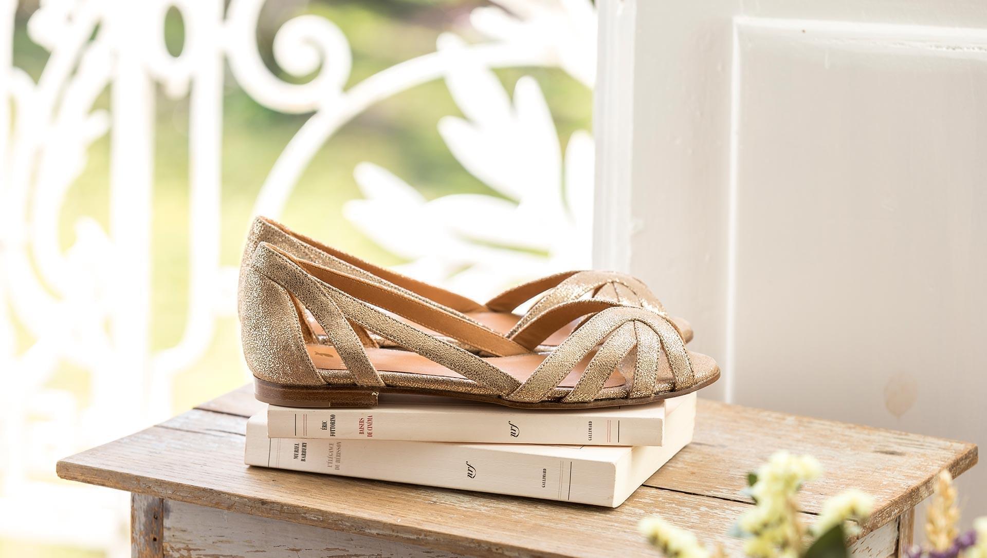 Sandales Hortense - Doré