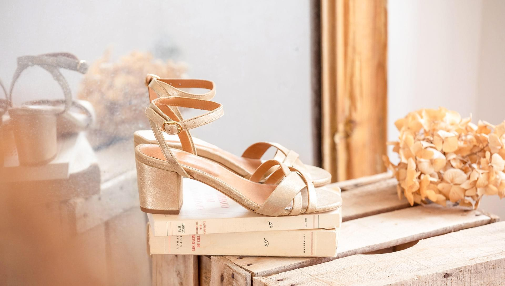 Leonore heeled sandals - Gold