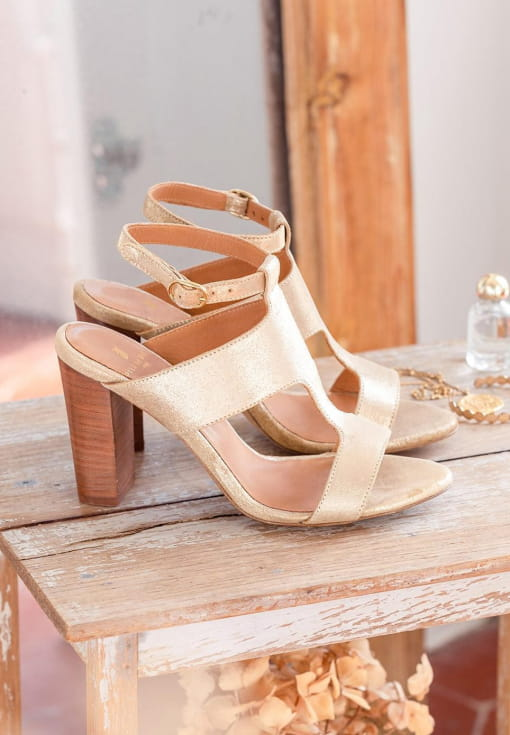 Gabie heeled sandals - Gold