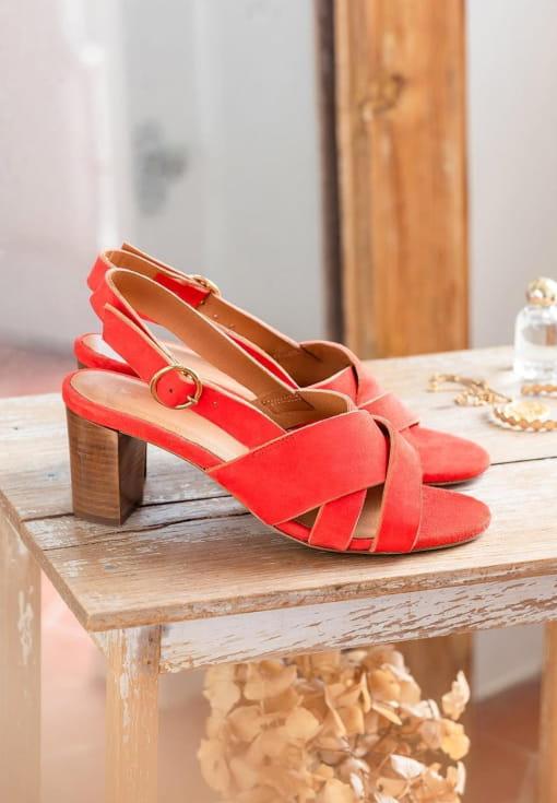 Sandales à talons Giulia - Vermeil