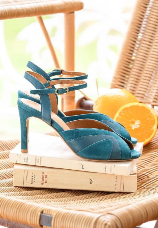 Sandales à talon Claudia - Canard