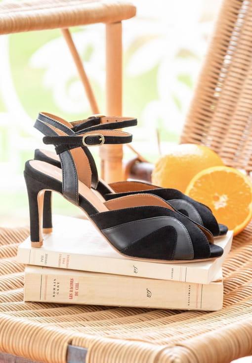 Sandales à talon Claudia - Noir