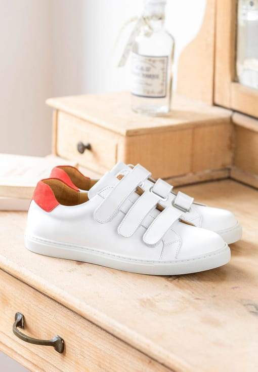 Sneakers Alice - White and Vermeil