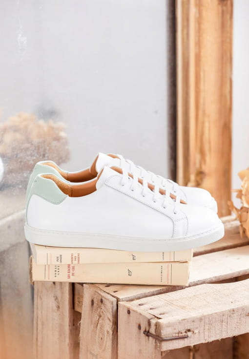 Sneakers Olivia - White and mint