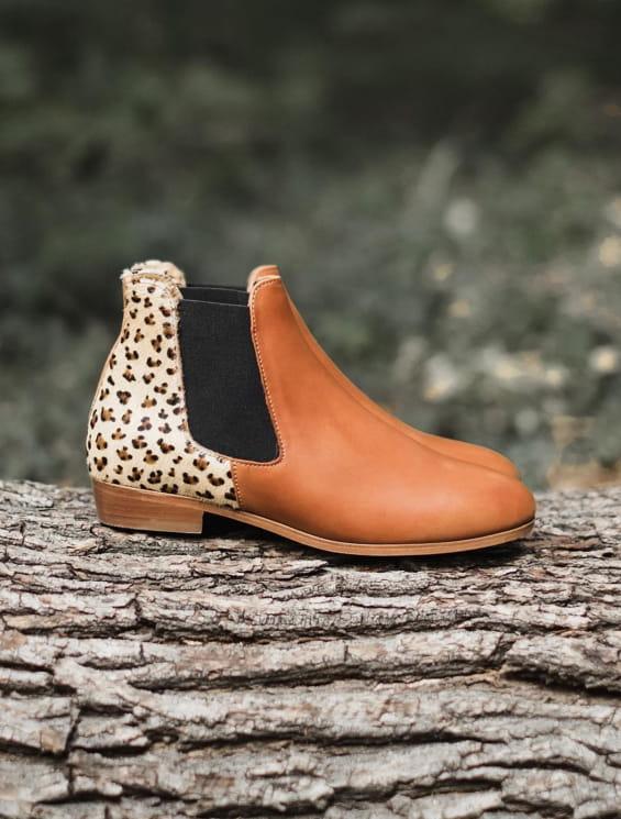 Chelsea boots Léopard