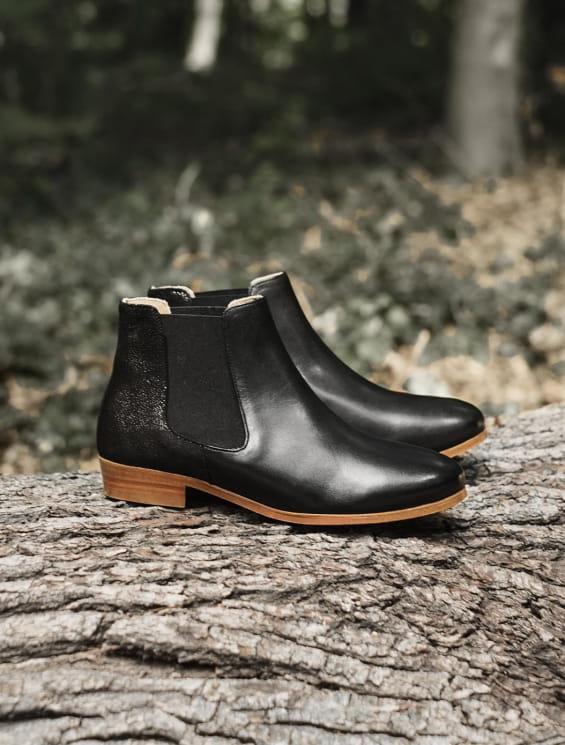 Chelsea boots Noir pailleté
