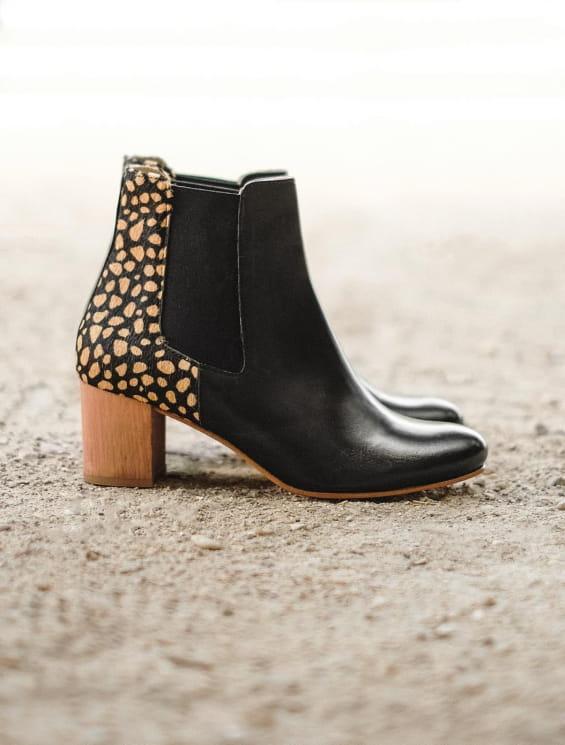 Chelsea heel - Black Biche